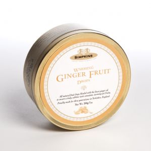 Simpkins Warming Ginger Fruit Drops Tin 200g